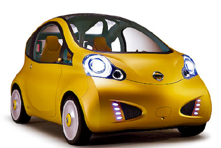 Nissan nuvu electric concept car new york show