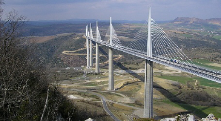 1103 high highest in world Millau Viaduct Marky