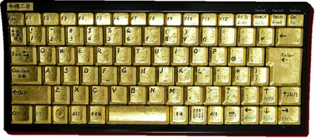 Goldkeyboard-gold-keyboard-tastatur-1