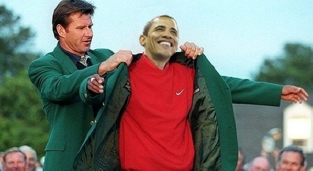 Obama-is-awarded-the-green-masters-jacket-ichuck4