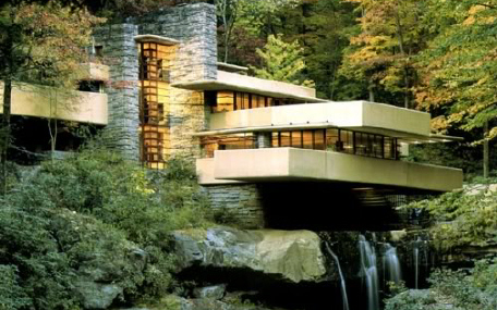 Falling-water-house