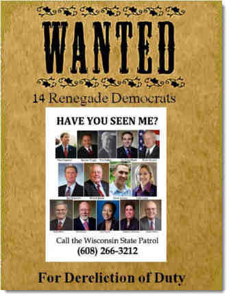 Wanted-sign-wisconsin-democrats-dereliction-of-duty