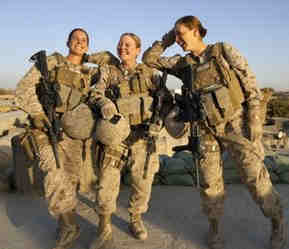 All female betallion marines