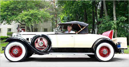 Woman 101 1930 packard roadster