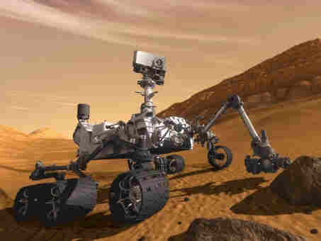 Mars rover curiosity digging for Hoffa