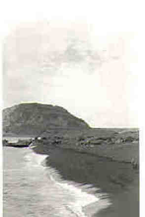 Mt suribachi on Iwo Jima by RFM feb 1955