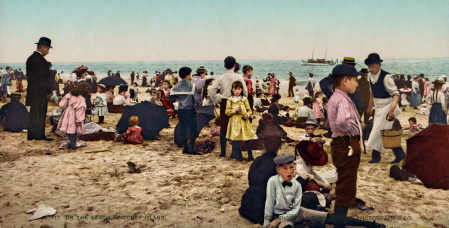 On_the_beach_at_Coney_Island,_New_York,_1902