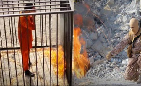 Jordanian pilot burned alive in cage 1