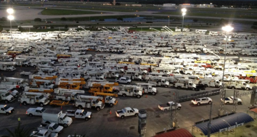 Daytona-Speeday-staging-2500-trucks-for-FPL-Connect