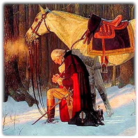 Washington-Praying-at-Valley-Forge