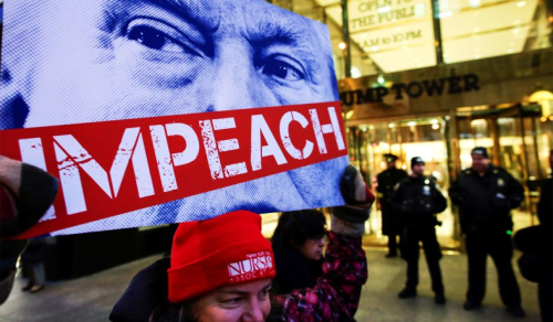 Impeach-trump-sign-trump-building-nyc