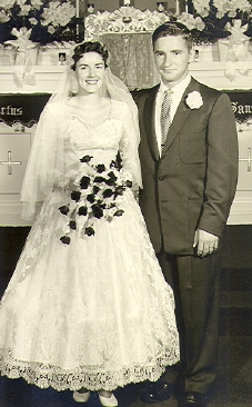 Bev and Bob's wedding 18 August 1956